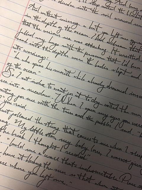 Dramatic letter handwriting