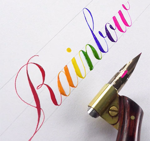 Rainbow ink pen