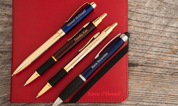 Collection of Engraved Pens