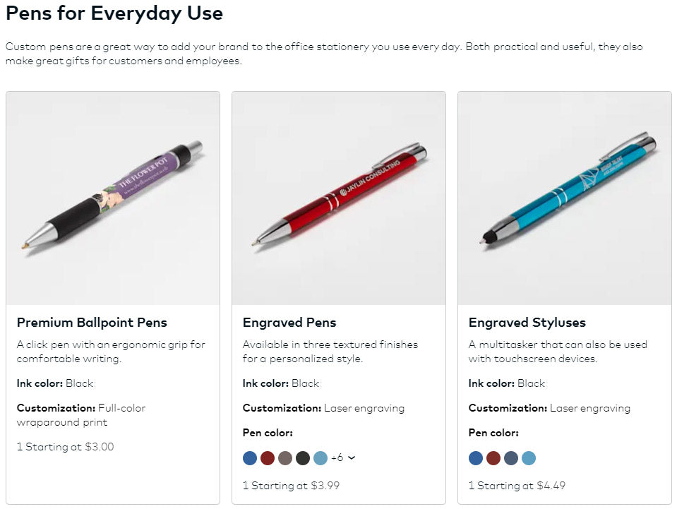 pens come in multiple colors for everyday use