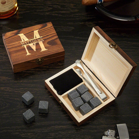 Engraved Whiskey Stone Set from Home Wet Bar