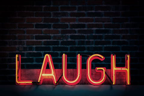 Laugh Neon-light Signage Turned on