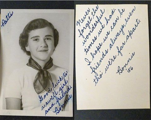 Lost in 1957 lovely letter by Bonnie