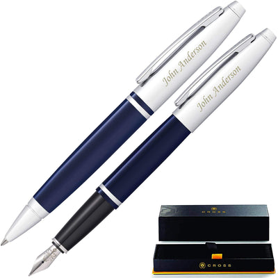 Cross Calais Ballpoint and Fountain Set - Blue GP-1245 | AT0116-3, AT0112-3