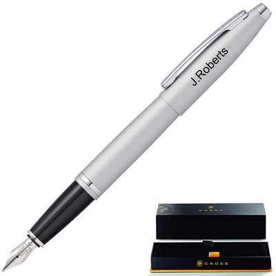 Cross Calais Fountain Pen - Satin Chrome GP-1242 | AT0116-16