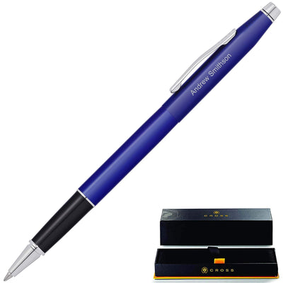 Cross Classic Century Translucent Blue Lacquer Rollerball Pen GP-1274 | AT0085-112