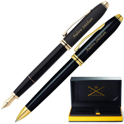 Cross Townsend Black Lacquer Fountain and Ballpoint Pen Set GP-1282 | 576-MD, AT0042TW-4