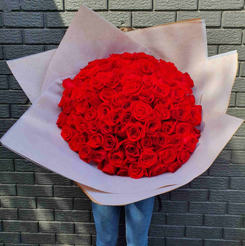 magnificent red rose bouquet from mr roses