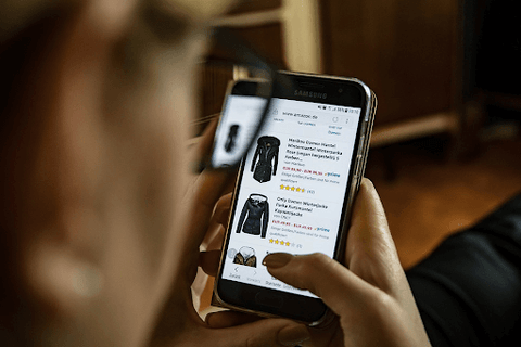 guy browsing options to shop from online