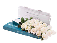 21 sublime white roses gift box