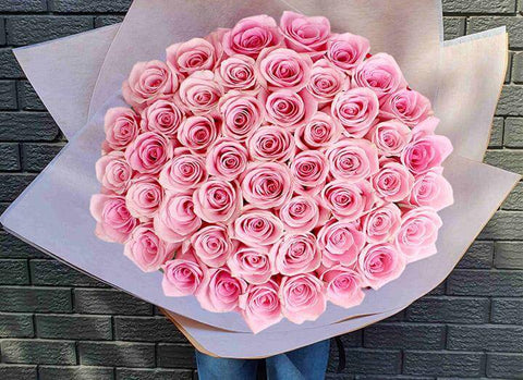 Magnificent bright and beautiful pink rose bouquet from mr roses