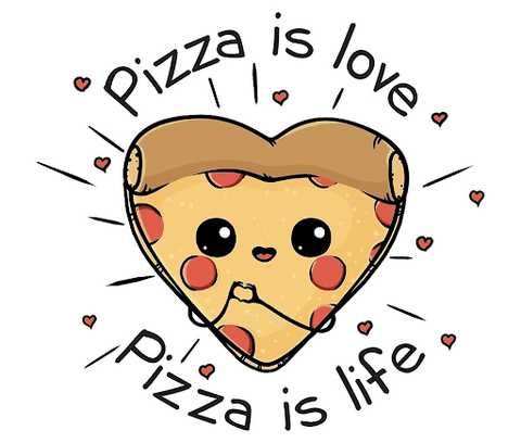 inforgraphic of pizza is love pizza is life