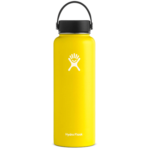 vibrant yellow water bottle for camping