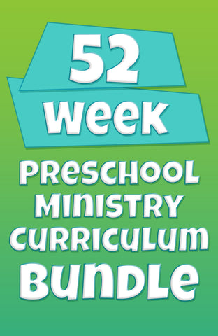 52-Week Preschool Ministry Curriculum Bundle