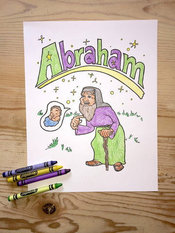 Abraham Coloring Page