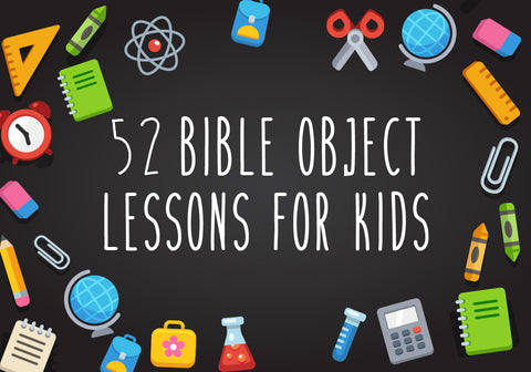 graphic regarding Free Printable Sunday School Lessons for Youth titled 52 Bible Item Courses for Youngsters Childrens Ministry Specials
