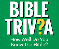 Bible Trivia Sunday school Lesson