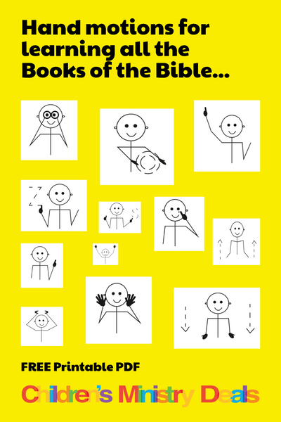 Books of the Bible Hand Motions