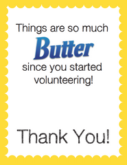 Butterfinger Thank You Note