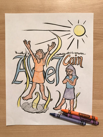 Cain and Abel Coloring Page – Children\'s Ministry Deals