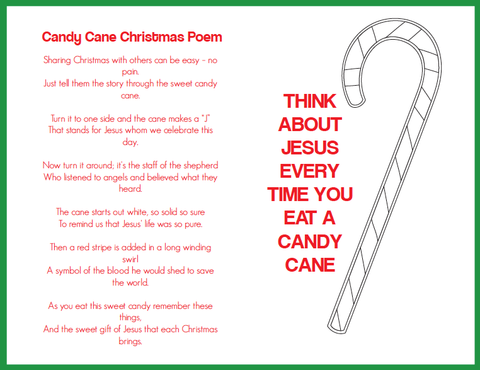 Candy Cane Christmas Poem