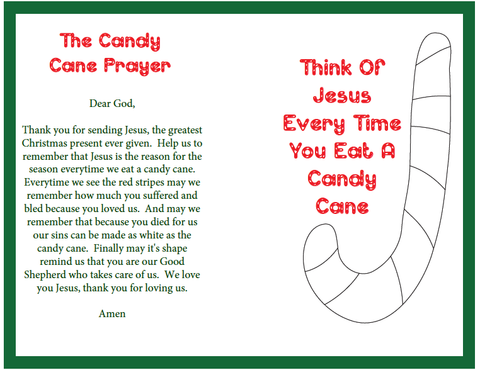 Candy Cane Prayer