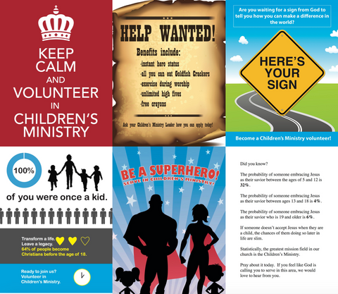Bulletin Inserts for Children's Ministry Volunteer Recruitment