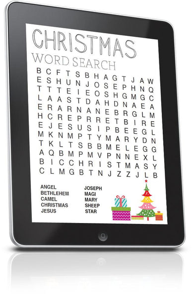 Christmas Word Search Game for Sunday School