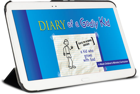 Diary of a Godly Kid Back to School Children's Ministry Lesson