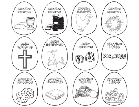 Resurrection Eggs Coloring Pages
