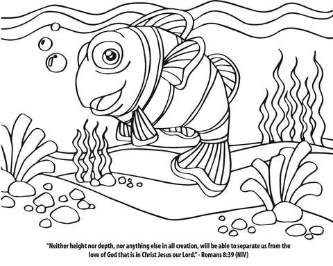 Finding Jesus Coloring Page