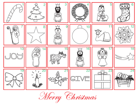 christmas advent calendar coloring pages - photo#26
