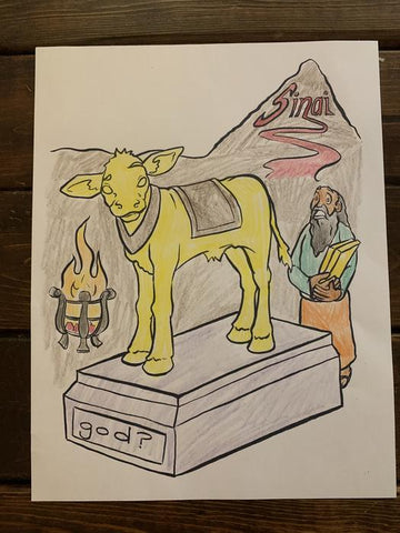 Golden Calf Coloring Page