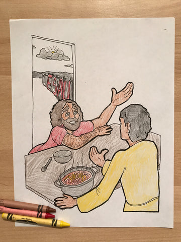 Jacob and Esau Coloring Page