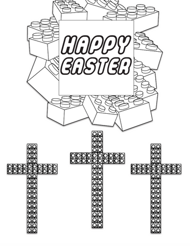 FREE Happy Easter Lego Coloring Page Childrens Ministry Deals