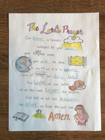 Lord's Prayer Coloring Page