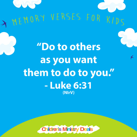 52 Memory Verses For Kids Graphics Childrens Ministry Deals