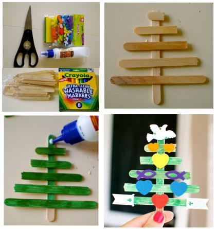 Christmas Tree Sunday School Craft