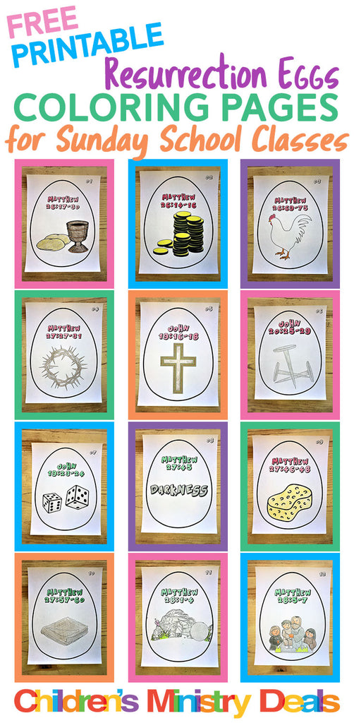 image relating to Printable Resurrection Eggs identified as Resurrection Eggs Coloring Webpages