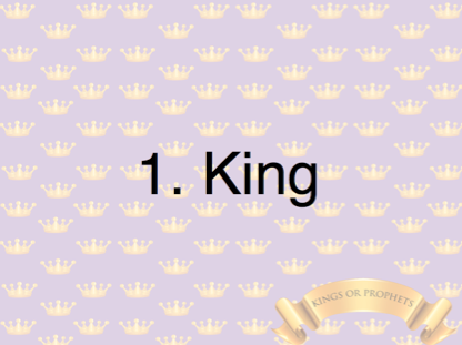 King or Prophet PowerPoint Game