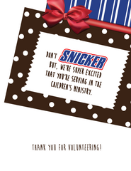 Snickers Thank You Note