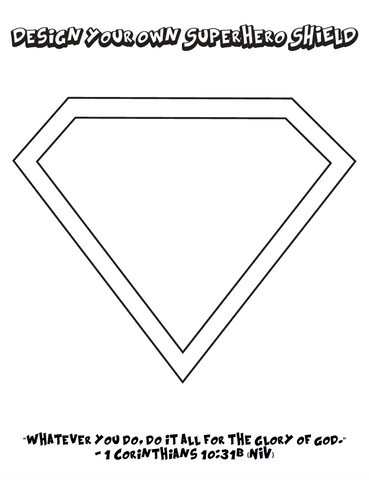 Superhero Cape Coloring Page
