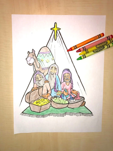 3 Kings Coloring Page