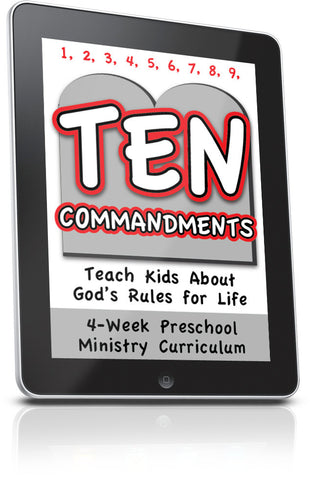 FREE 10 Commandments Preschool Lesson