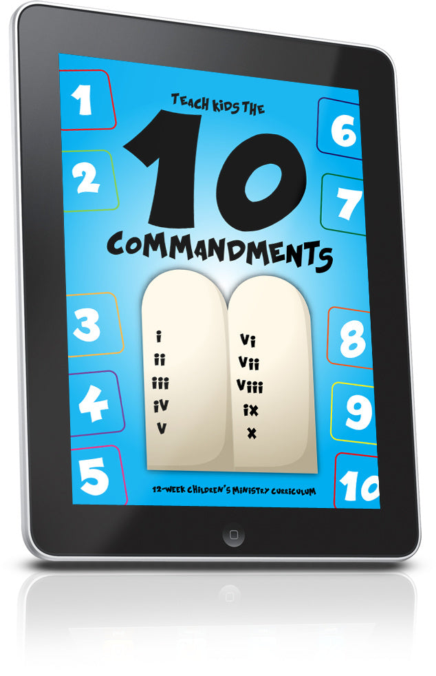 10 Commandments Children's Ministry Sample Lesson