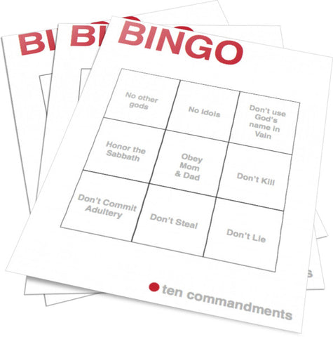 10 Commandments Bingo