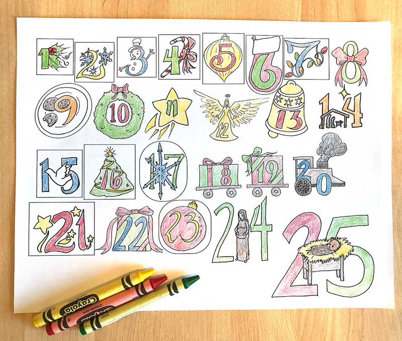 Free Advent Coloring Calendar for Kids