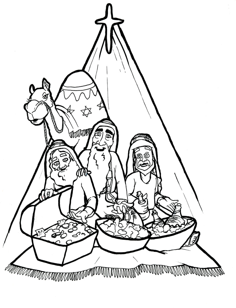 The 3 Kings Coloring Page