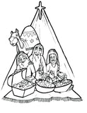 "FREE ""3 Kings"" Coloring Page"
