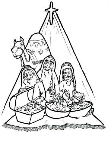 FREE 3 Kings Coloring Page